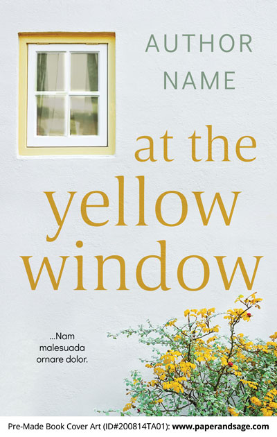 Pre-Made Book Cover ID#200814TA01 (At the Yellow Window)