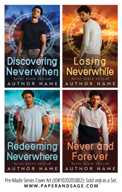 PreMade Series Covers ID#102020SB02 (Never Veils Series, Only Sold as a Set)