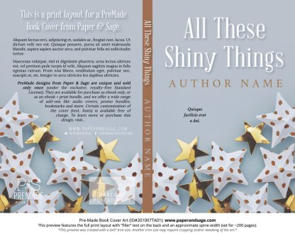 Pre-Made Book Cover ID#201007TA01 (All These Shiny Things)