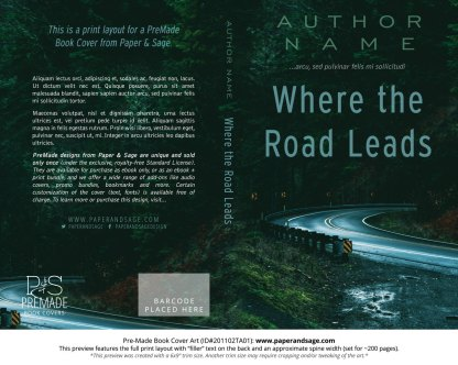 Pre-Made Book Cover ID#201102TA01 (Where the Road Leads)