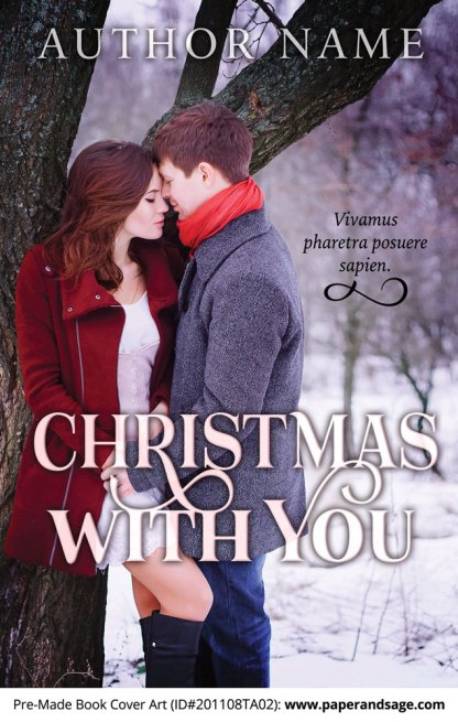 Pre-Made Book Cover ID#201108TA02 (Christmas with You)