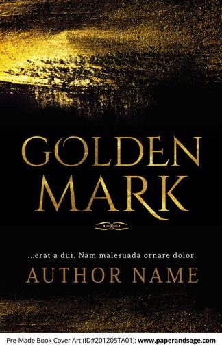 Pre-Made Book Cover ID#201205TA01 (Golden Mark)