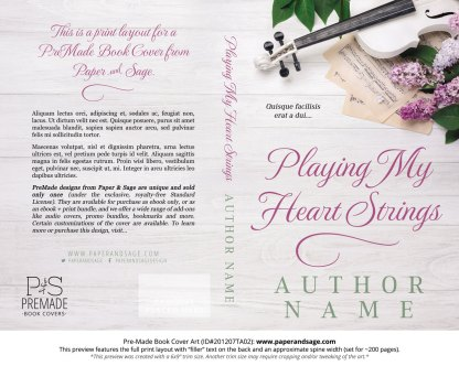 Pre-Made Book Cover ID#201207TA02 (Playing My Heart Strings)