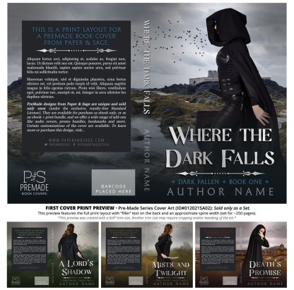 PreMade Series Covers ID#012021SA02 (Dark Fallen Series, Only Sold as a Set)