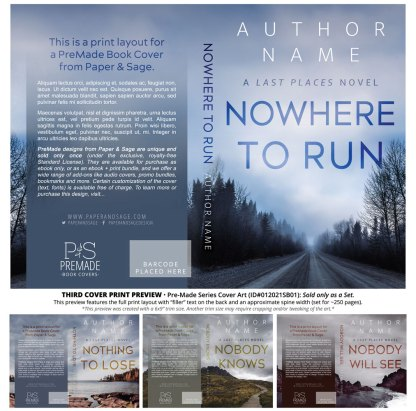 PreMade Series Covers ID#012021SB01 (Last Places Series, Only Sold as a Set)