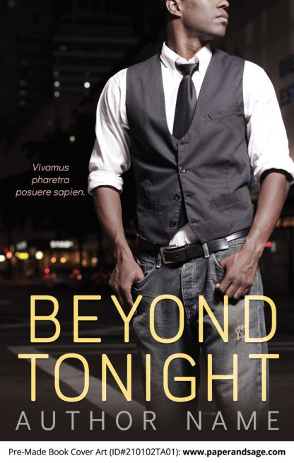 Pre-Made Book Cover ID#210106TA01 (Beyond Tonight)