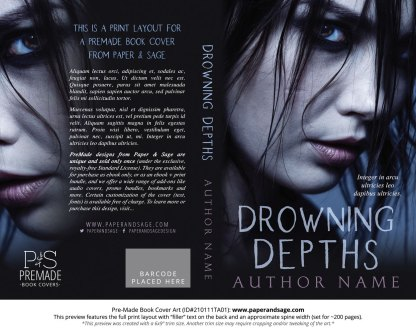 Pre-Made Book Cover ID#210111TA01 (Drowning Depths)