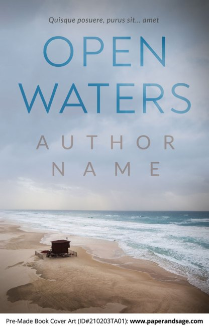 Pre-Made Book Cover ID#210203TA01 (Open Waters)