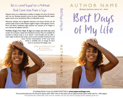 Pre-Made Book Cover ID#210207TA01 (Best Days of My Life)
