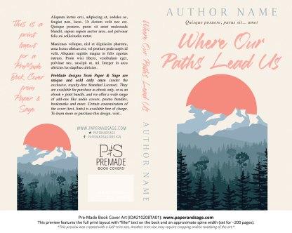 Pre-Made Book Cover ID#210208TA01 (Where Our Paths Lead Us)