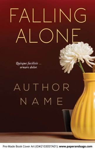Pre-Made Book Cover ID#210305TA01 (Falling Alone)