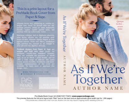 Pre-Made Book Cover ID#210311TA01 (As If We're Together)