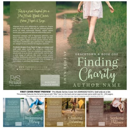 PreMade Series Covers ID#042021SC01 (Gracetown Series, Only Sold as a Set)