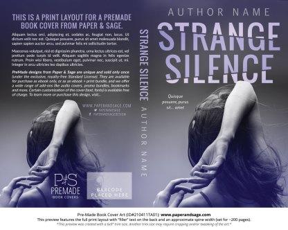 Pre-Made Book Cover ID#210411TA01 (Strange Silence)