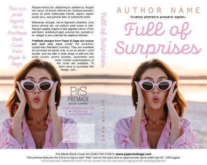 Pre-Made Book Cover ID#210412TA01 (Full of Surprises)