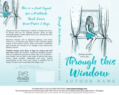 Pre-Made Book Cover ID#210414TA01 (Through this Window)