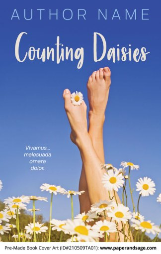 Pre-Made Book Cover ID#210509TA01 (Counting Daisies)