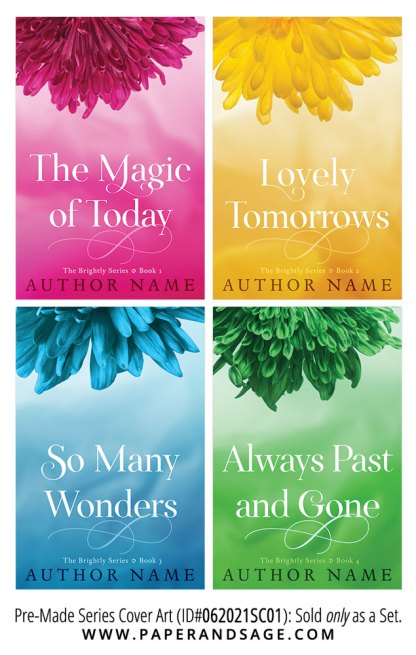 PreMade Series Covers ID#062021SC01 (Brightly Series, Only Sold as a Set)