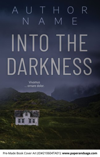 Pre-Made Book Cover ID#210604TA01 (Into the Darkness)
