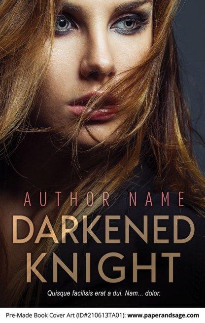 PreMade Book Cover ID#210613TA01 (Darkened Knight)