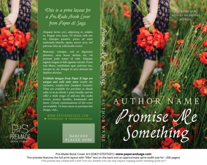 PreMade Book Cover ID#210703TA01 (Promise Me Something)
