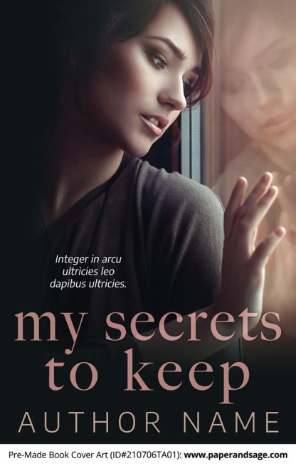 PreMade Book Cover ID#210706TA01 (My Secrets to Keep)