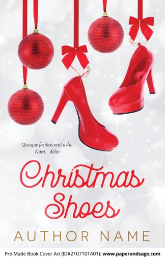 PreMade Book Cover ID#210710TA01 (Christmas Shoes)