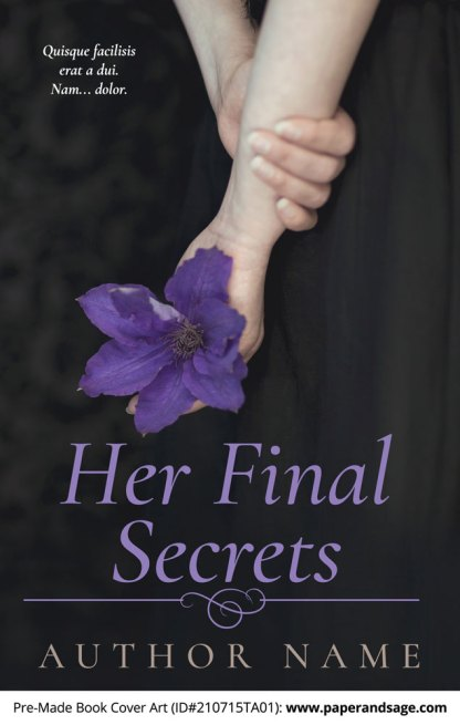 PreMade Book Cover ID#210715TA01 (Her Final Secrets)