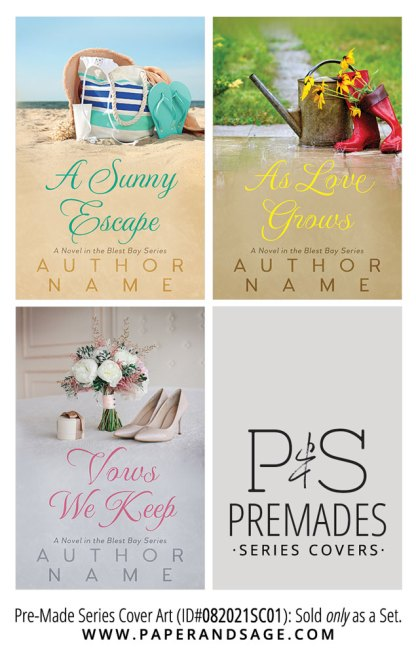 PreMade Series Covers ID#082021SC01 (The Blest Bay Series, Only Sold as a Set)