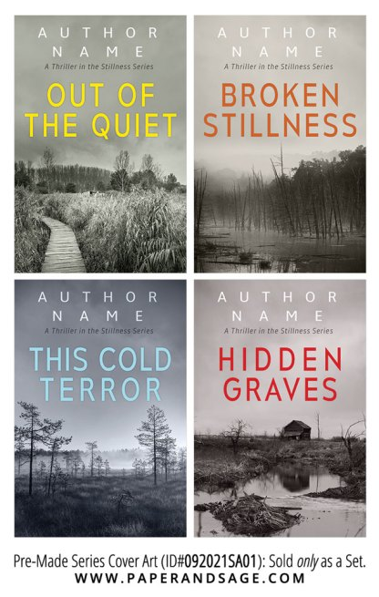 PreMade Series Covers ID#092021SA01 (The Stillness Series, Only Sold as a Set)