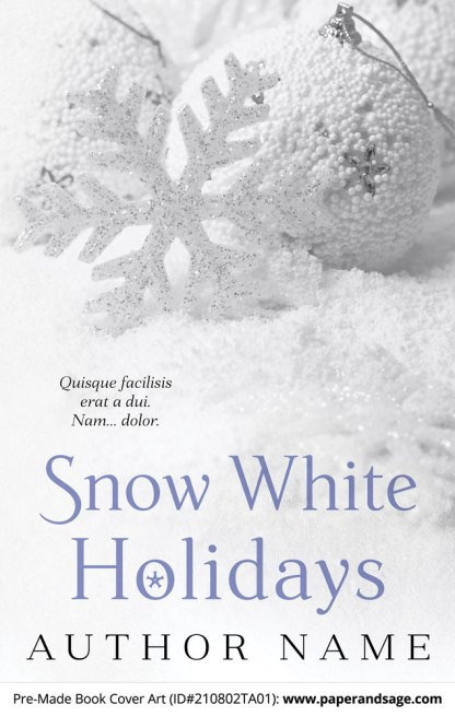 PreMade Book Cover ID#210802TA01 (Snow White Holidays)