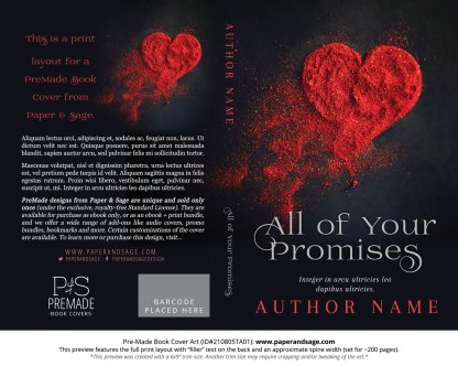 PreMade Book Cover ID#210805TA01 (All of Your Promises)