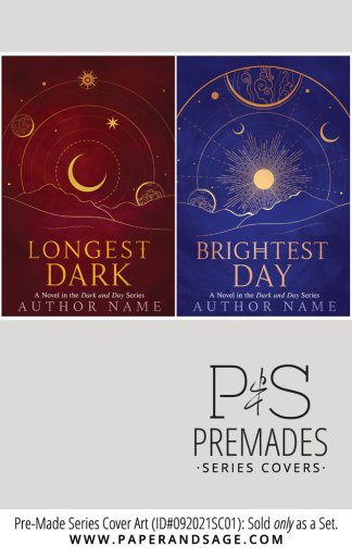 PreMade Series Covers ID#092021SC01 (Dark and Day Duology, Only Sold as a Set)
