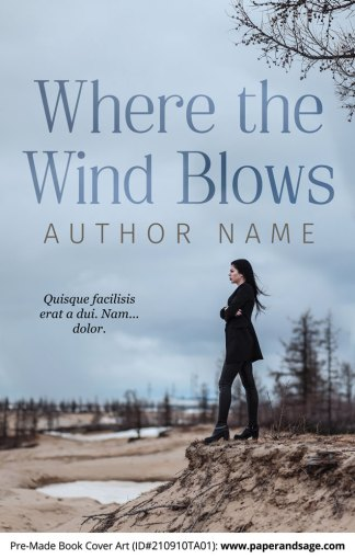 PreMade Book Cover ID#210910TA01 (Where the Wind Blows)