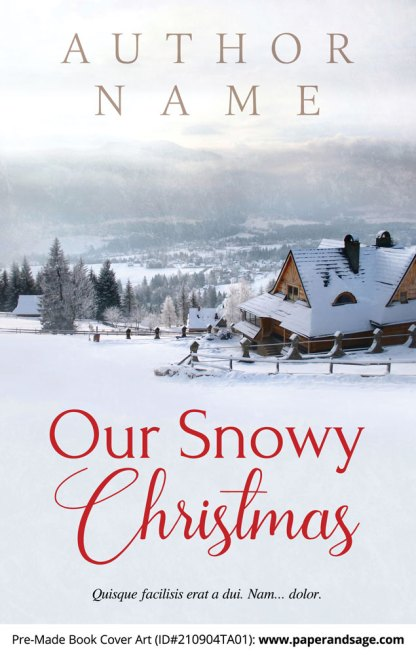 PreMade Book Cover ID#210904TA01 (Our Snowy Christmas)