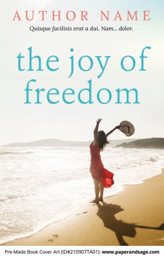 PreMade Book Cover ID#210907TA01 (The Joy of Freedom)