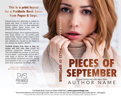 PreMade Book Cover ID#210908TA01 (Pieces of September)