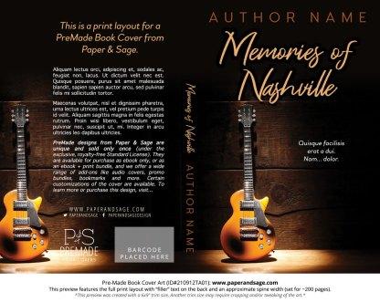 PreMade Book Cover ID#210912TA01 (Memories of Nashville)