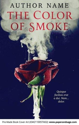 PreMade Book Cover ID#211005TA02 (The Color of Smoke)