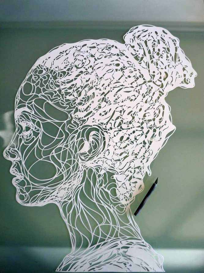 Paper Art Womans Head