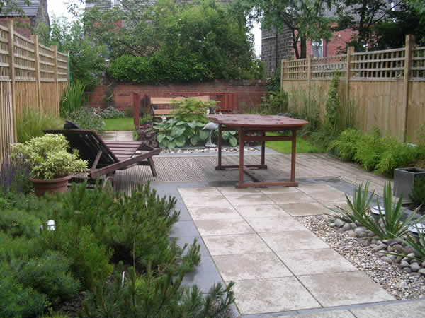 Garden Layout Designs, Small, Large, Courtyard Gardens on Terraced House Backyard Ideas id=50743