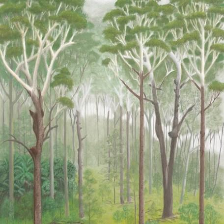 Wet sclerophyll forest - blackbutts (pastel)