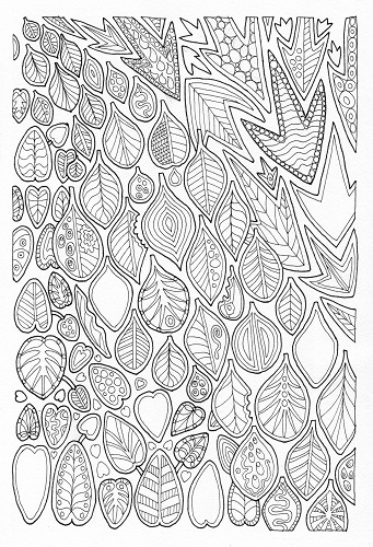 Coloring Pages Leaf Shapes Coloring Pages