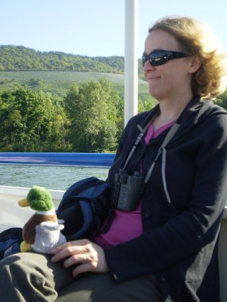 Enjoying a cruise on the Rhine.