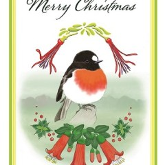 Scarlet Robin on Kangaroo Island Christmas card