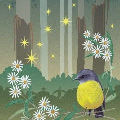Eastern Yellow Robin and Mountain Ash Christmas card