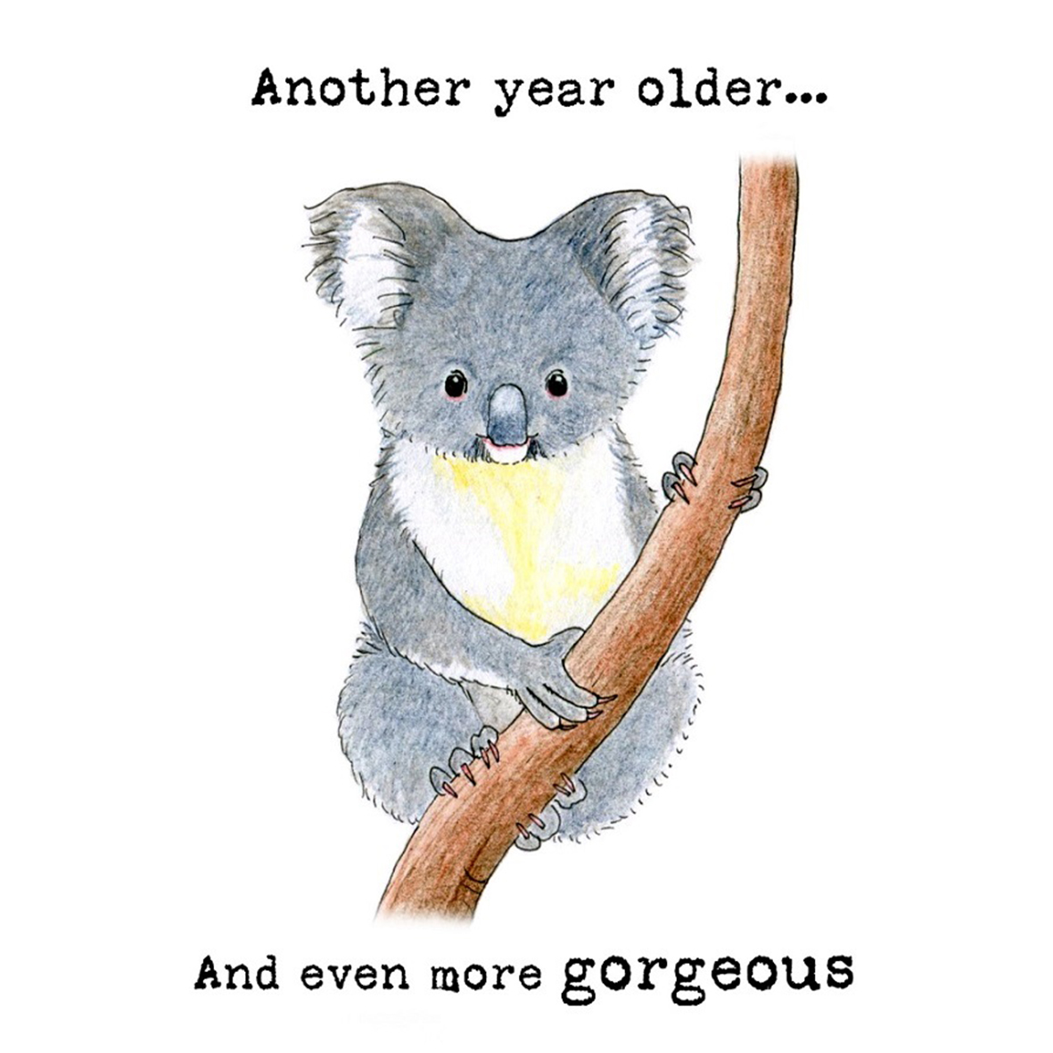 Two new koala birthday cards