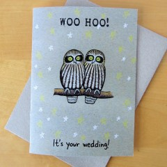 Woo hoo! It's you're wedding card