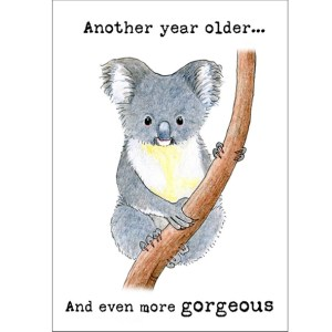 Even more gorgeous koala birthday card