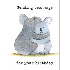 Sending bearhugs koala birthday card